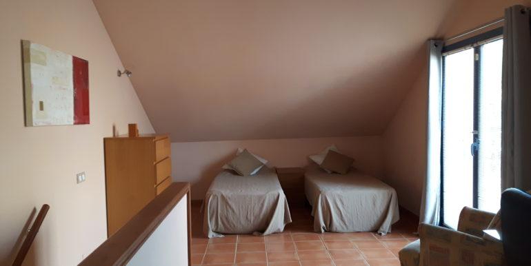 Mezzanine attic bedroom