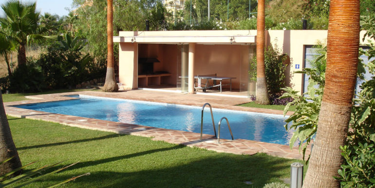 Pool and barbeque room